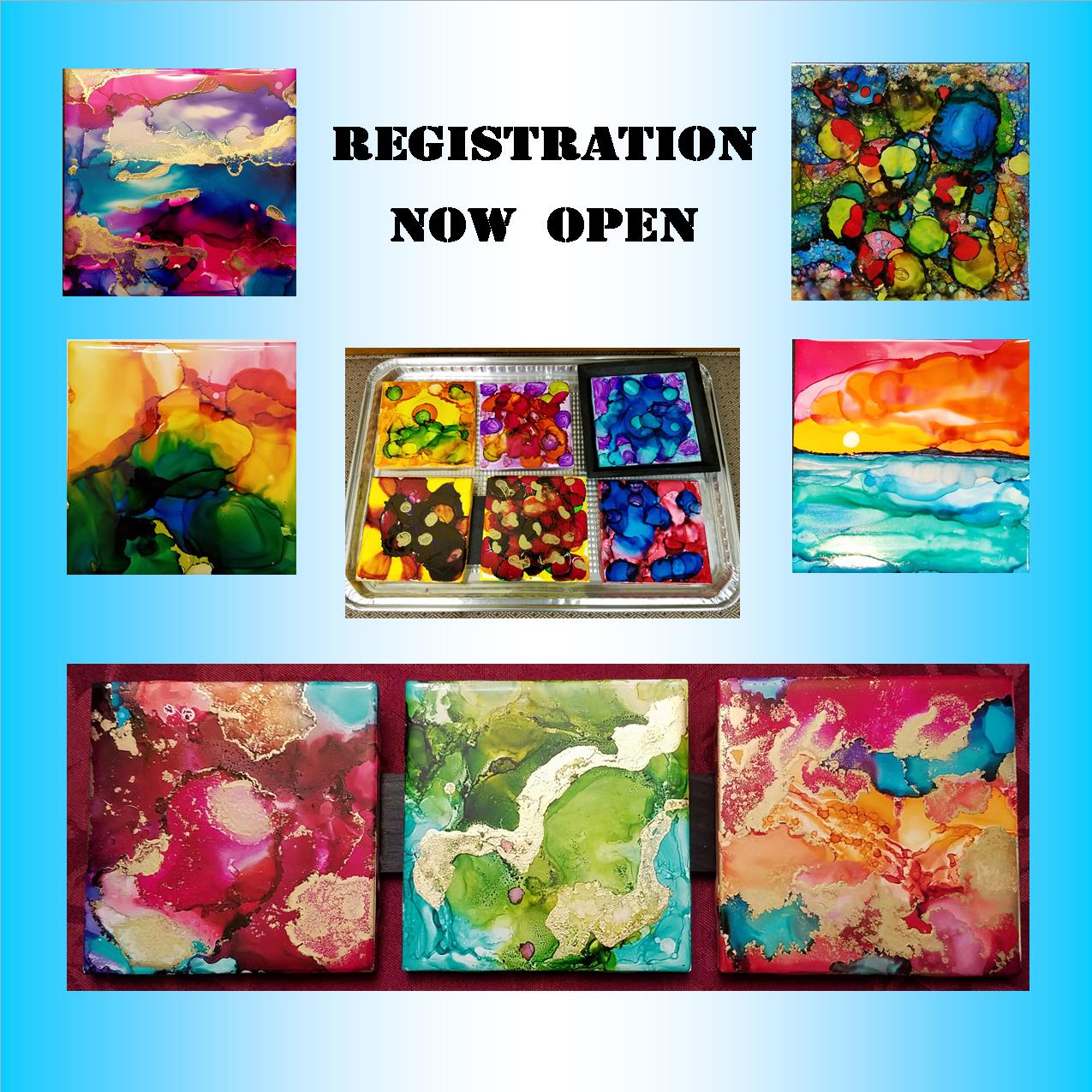 Alcohol Ink Flyer Feature Pictures