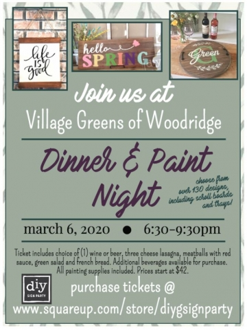 Dinner and Paint Night