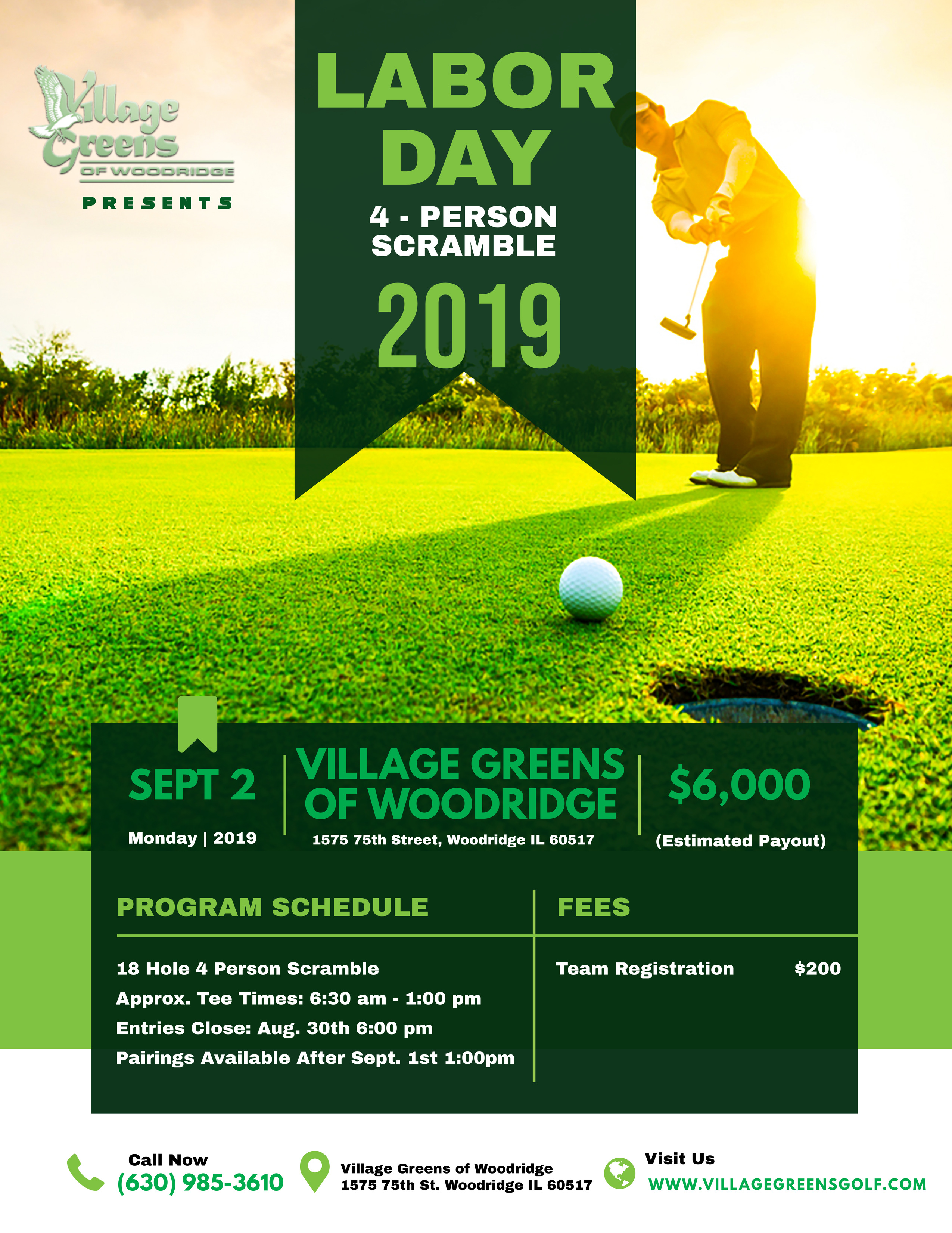 Golf Tournament Flyer Updated